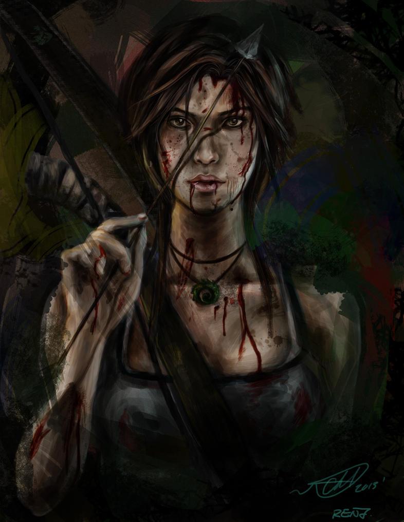 Lara Croft by renjinx