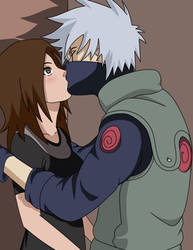 Kakashi and Miharu - Kiss by Irethiss