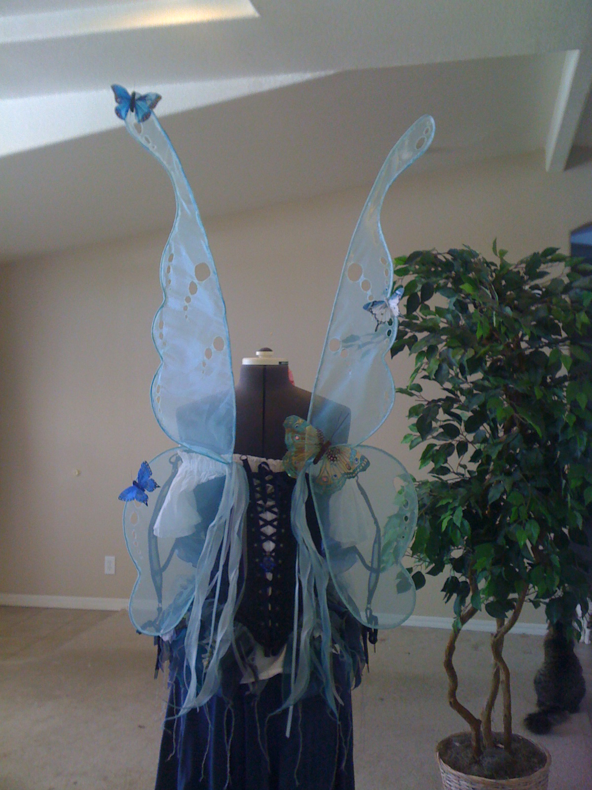Aqua Organza Wings by WinterFlightDesign