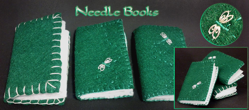 Needle books by WinterFlightDesign