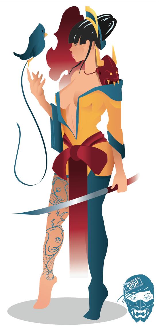 Samurai Girl Vec. by LZDZ