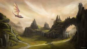 Dragon land by Naevea