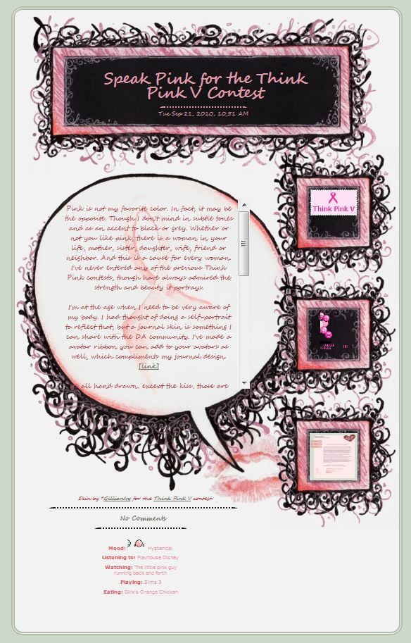 Speak Pink Journal Design by GillianIvy