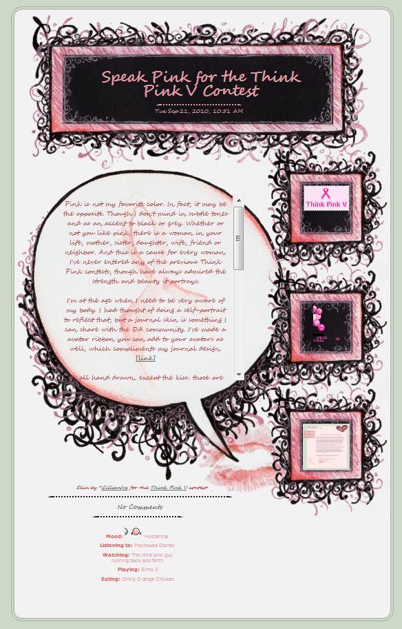 Speak Pink Journal Design by GillianIvy