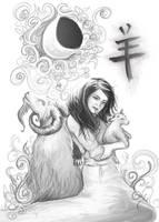 Year of the Goat by gillianivyart
