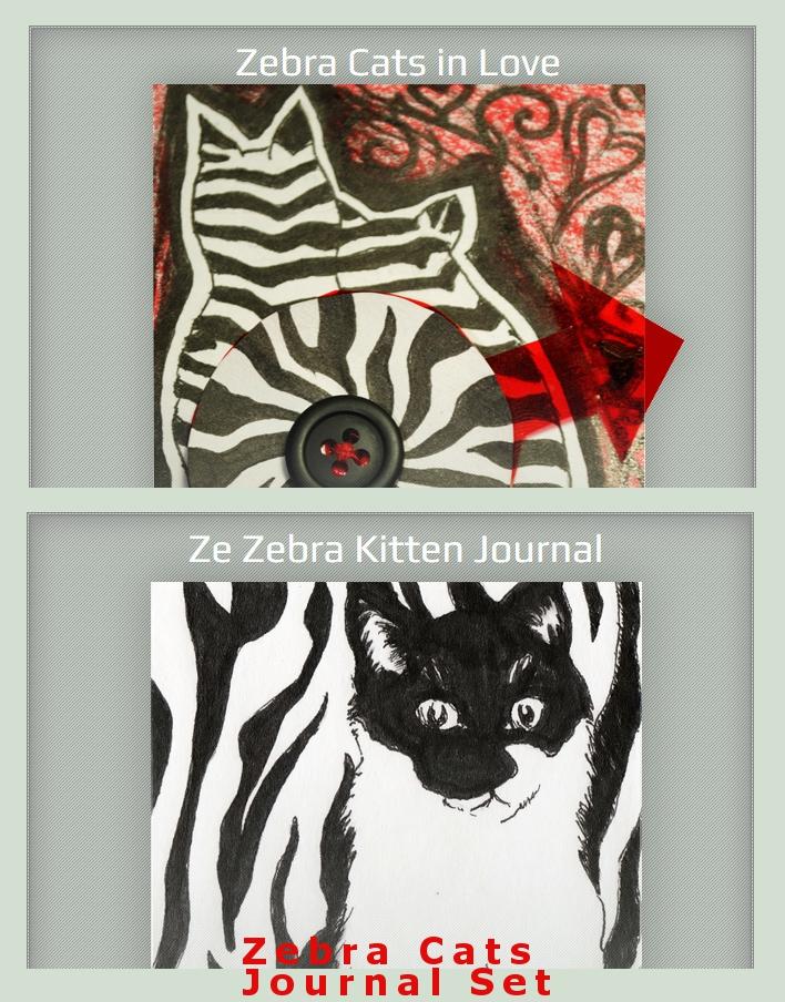 Zebra Cats Set by GillianIvy