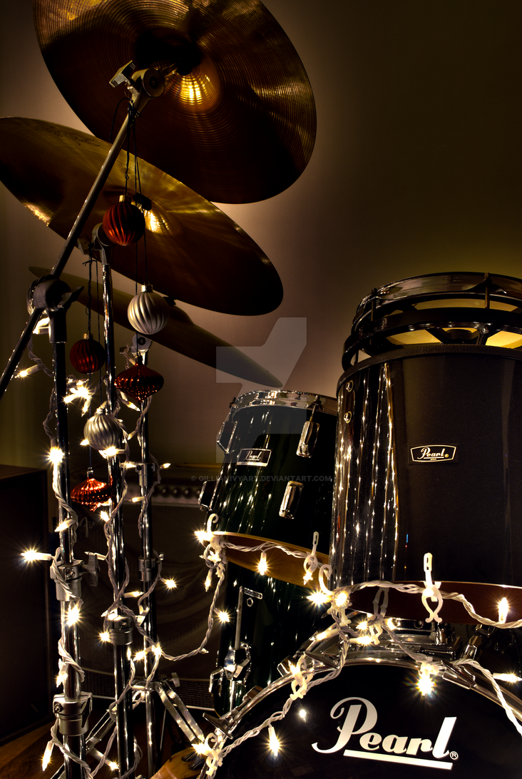 Christmas Eve Drumset HDR by GillianIvy