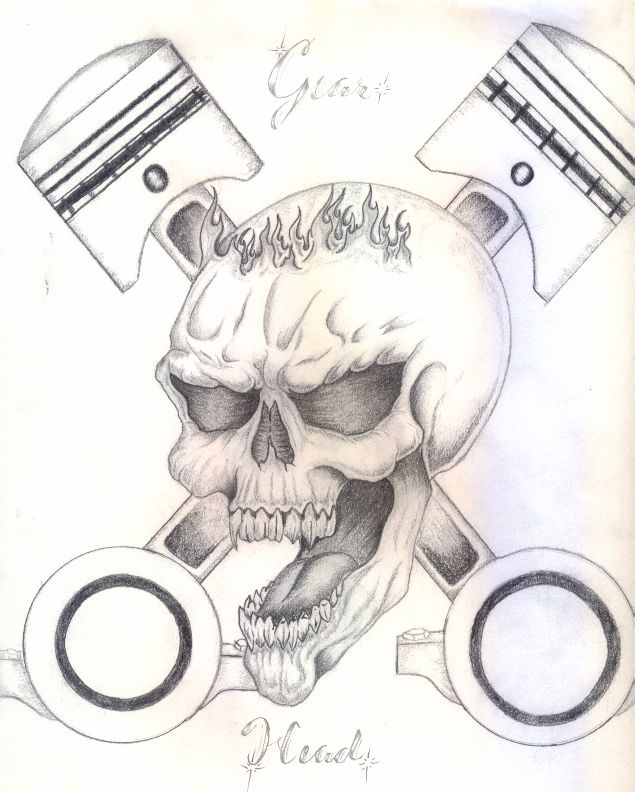 Images Of Gearhead Tattoo Designs Rock Cafe