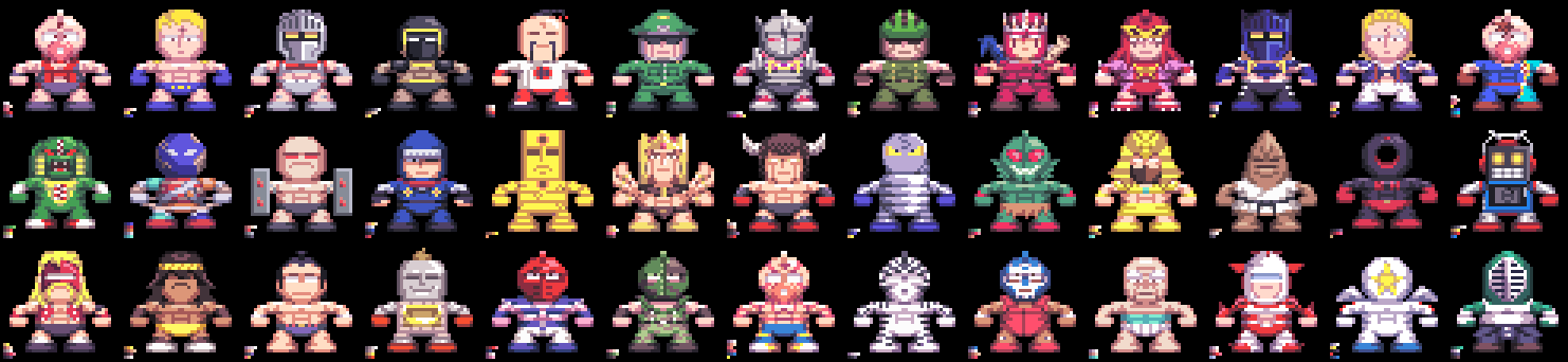 Kinnikuman Super M.U.S.C.L.E. Grand Prix (Sprite) by DangerMD