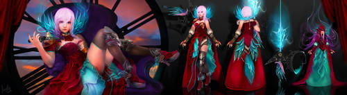 Final Fantasy Lightning Contest - Waves - by Fanelia-Art