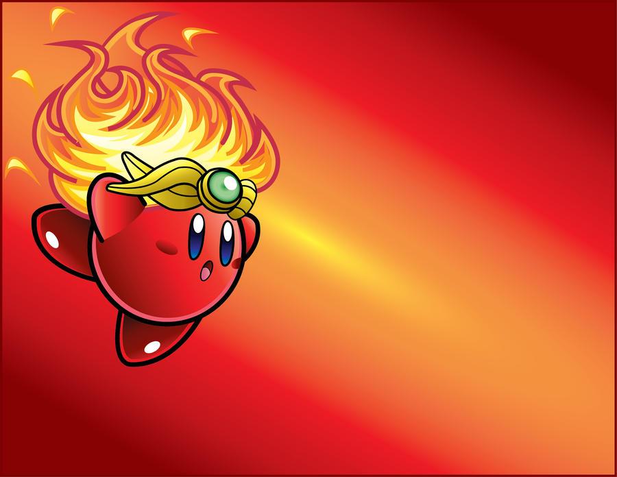 Vector Practice: Fire Kirby by DPghoastmaniac2