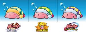 Sleep Kirby - 3 Variations by ShadowLifeman