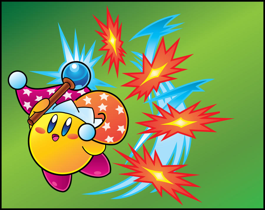 Kirby Vector: Beam Kirby by DPghoastmaniac2