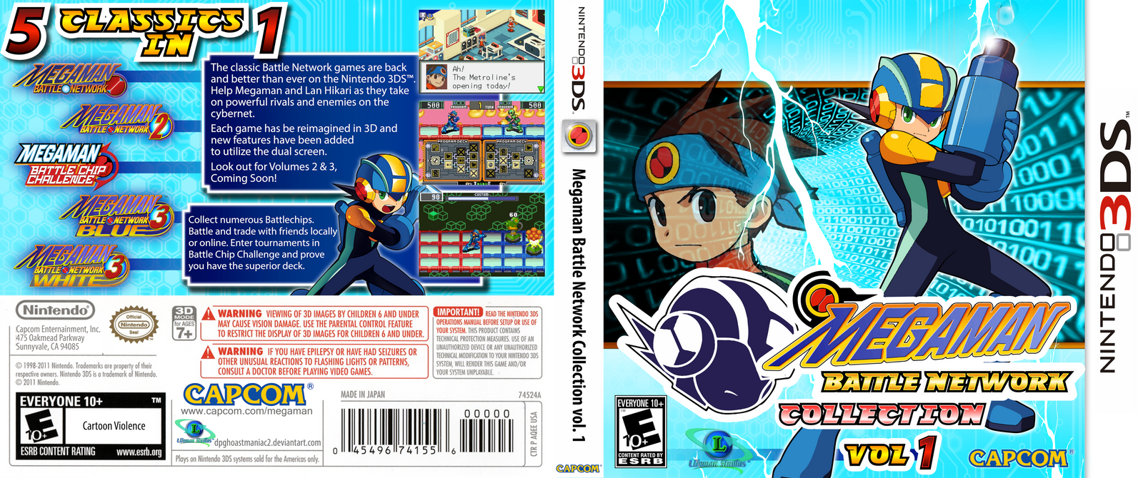 Boxart: Megaman Battle Network Collection vol. 1 by ShadowLifeman