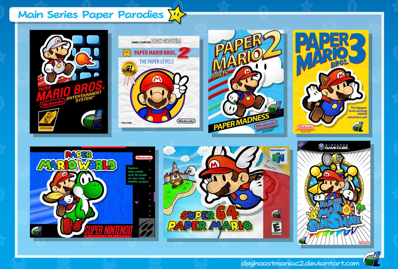 paper mario main series paper parodies by shadowlifeman on deviantart