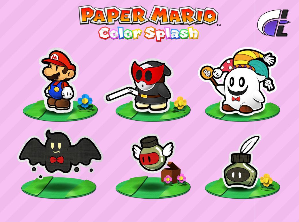 how to draw paper mario color splash