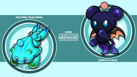 Chao Comp 1 - Sonic Channel style by ShadowLifeman