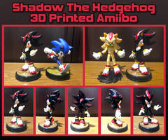 Shadow 3D Printed Amiibo (Failed Print)