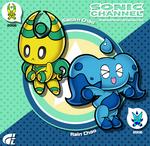 Sonic Channel - Saturn and Rain Chao by ShadowLifeman