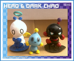 3D Printed Hero and Dark Chao figures by ShadowLifeman