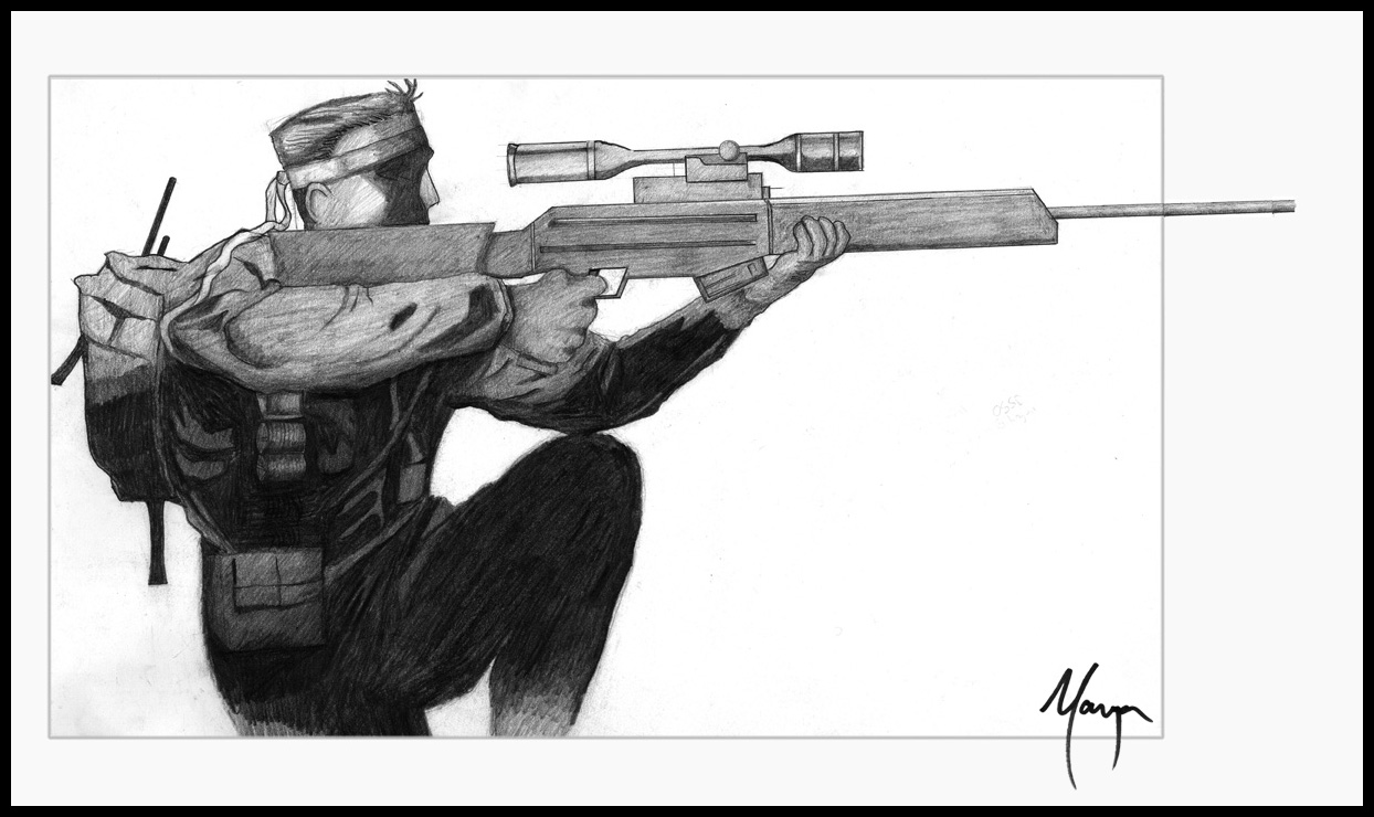 Metal Gear-Solid Snake by MugenB16