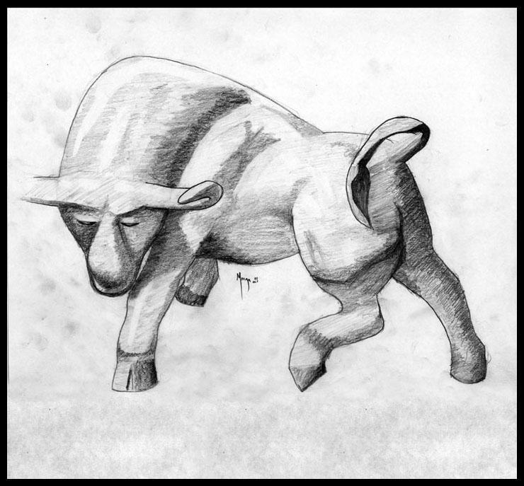 Taurus Bull by MugenB16Taurus Bull Drawing