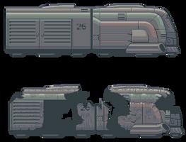 Cyberpunk Train by kukuchangmin