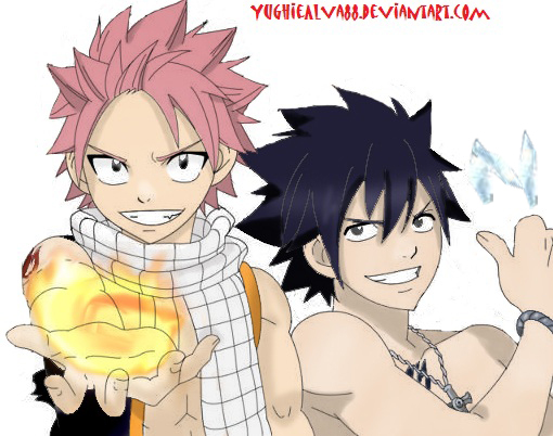 Natsu Dragneel and Gray Fullbuster, Eternal Rivals by ...
