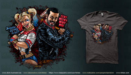 Harley and Negan by kktee