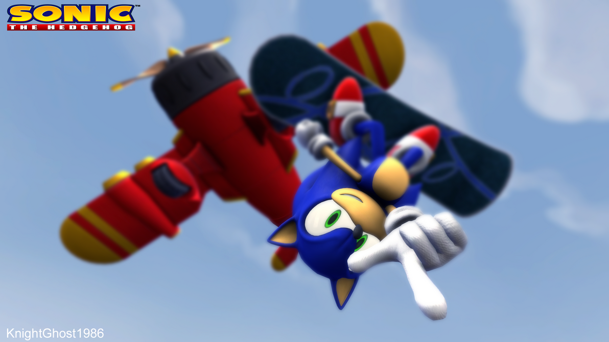 Sonic SkyDiving by KnightGhost1986