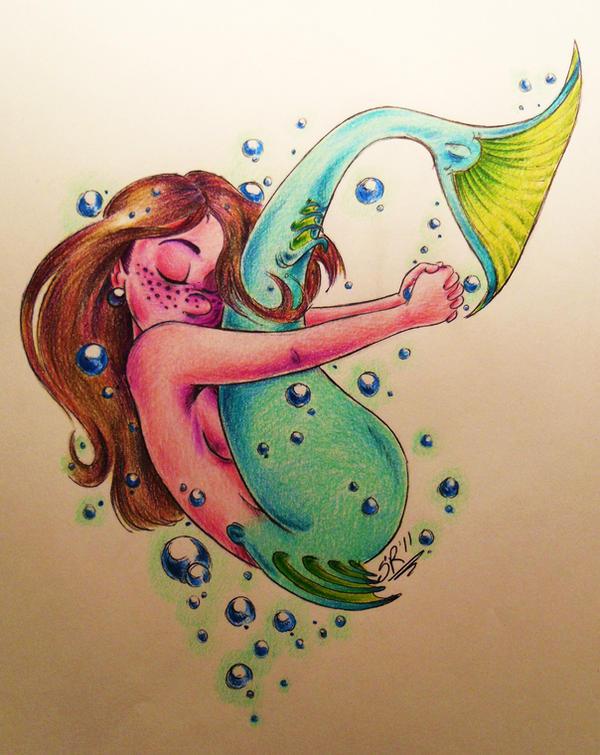 Hugging Mermaid by BenjiLion09