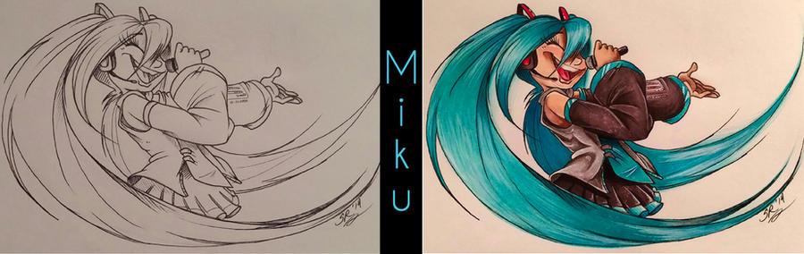 Hatsune Miku by BenjiLion09