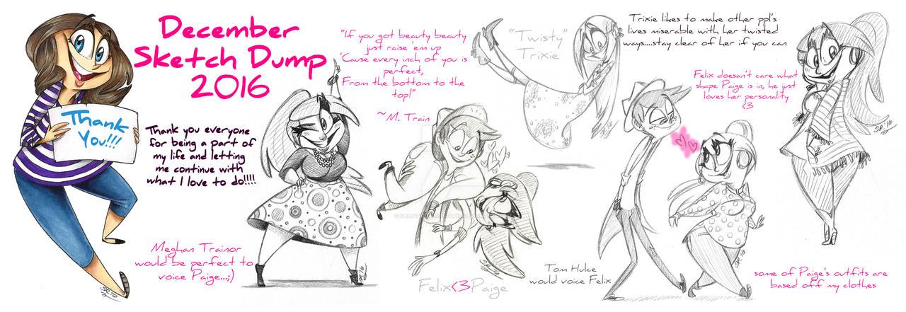 Dec2016 SketchDump by BenjiLion09