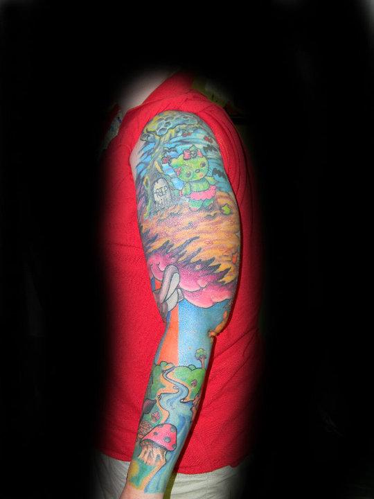 hello kitty sleeve - sleeve tattoo