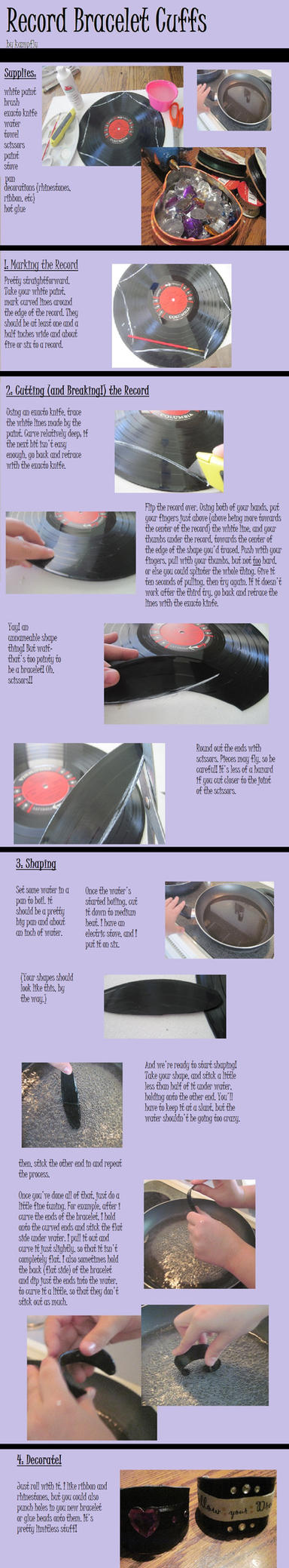 Record Cuff Tutorial by kampfly