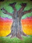 Tree at sunset by kampfly