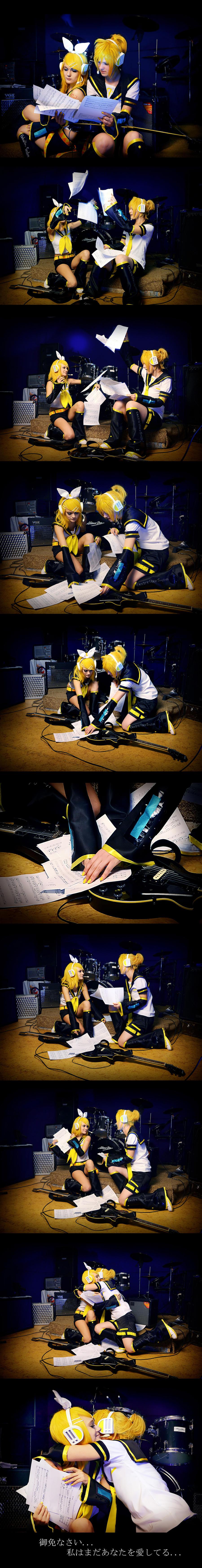 Little story Vocaloid twins by WanderingKai
