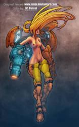 Samus Aran Girl by Muju, painted by me by evilself
