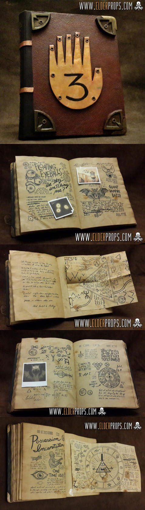 Gravity Falls - Journal 3 prop by evilself