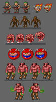 TinyDOOM sprites by evilself
