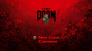 TinyDOOM Menu Screen by evilself