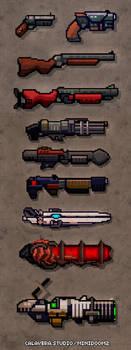 Pixel guns! (from miniDoom 2) by evilself