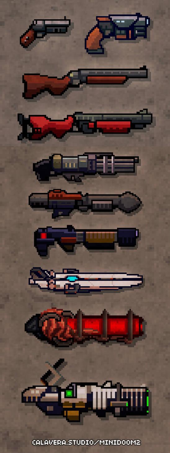 Pixel guns! (from miniDoom 2)