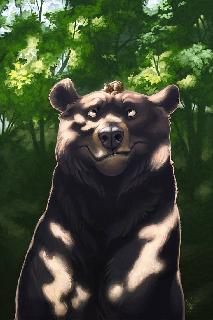 Bear and Chipmunk by hellcorpceo