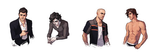Nightlife Characters by hellcorpceo