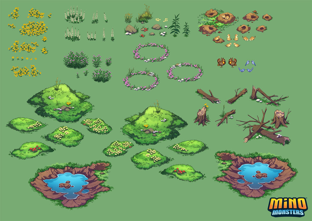 MinoMonsters Prairie Assets by hellcorpceo