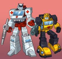 Autobots - Ratchet and Bumblebee by minsan
