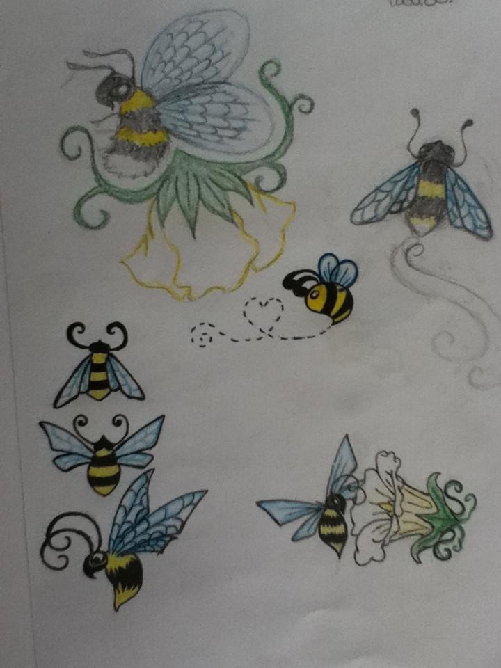 bumble bee art dump by domeniinebunie on deviantart. Black Bedroom Furniture Sets. Home Design Ideas
