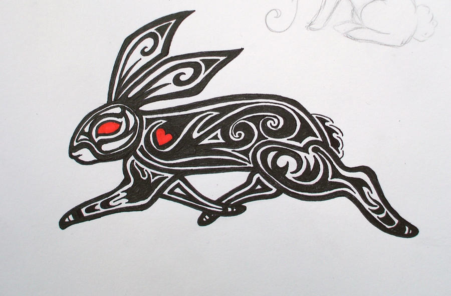 Tribal Rabbit Tattoo