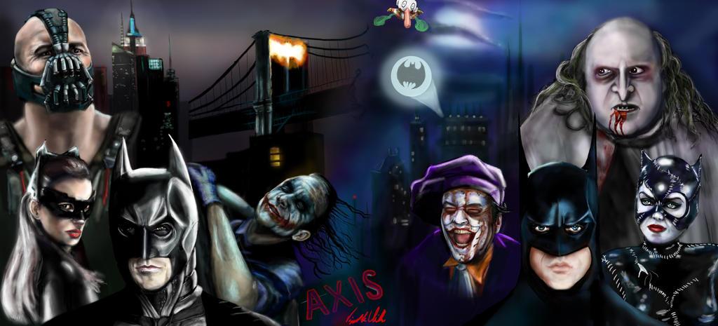Batman vs Batman by Vinnyjohn13